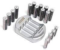 Ladegerät AA / AAA Akkubatterien/9V Block