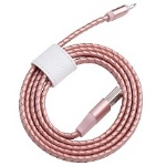 LIGHTNING KABEL LEDER ROSE GOLD 1M